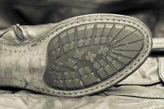 Мужская подошва ботинка. Handmade ботинки. Винтажный стиль Стоковые Изображения