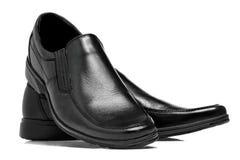 Мужские ботинки в принципиальной схеме моды Стоковое фото RF