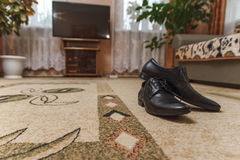 Мужские ботинки свадьбы Стоковое Изображение RF