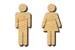 Мужские и женские диаграммы от дерева Стоковая Фотография