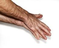 Мужские fistMan показывая руки Стоковое Изображение RF