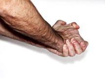 Мужские fistMan показывая руки Стоковая Фотография