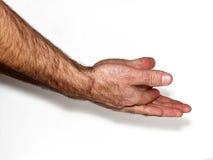 Мужские fistMan показывая руки Стоковые Изображения RF