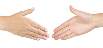 2 мужских руки около для того чтобы трясти руки Стоковые Изображения RF
