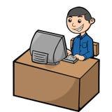 Мужское обслуживание клиента иллюстрация штока