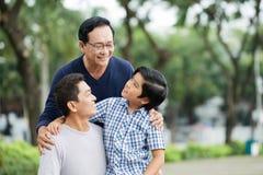 Мужское поколение семьи стоковая фотография rf