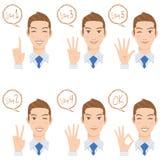 Мужское представление пальца Стоковые Фотографии RF