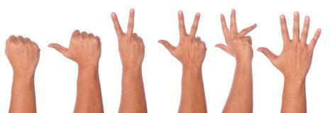 Мужское собрание жеста рукой и знака Стоковое фото RF