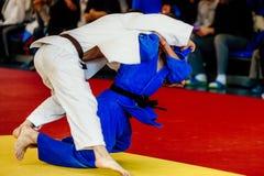 Мужское judoka бойца Стоковая Фотография RF