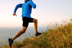 Мужской бегун спортсмена Стоковая Фотография RF