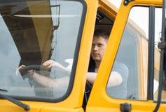 Мужской водитель грузовика Стоковое Изображение RF