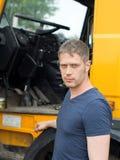 Мужской водитель грузовика Стоковые Изображения RF