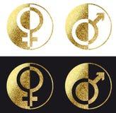 Мужской женский значок Стоковая Фотография RF