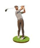 Мужской игрок гольфа teeing  Стоковое Изображение RF