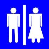 Мужской и женский знак Стоковые Изображения RF