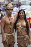 мужской и женский крупный план танцоров в эквадоре Стоковые Фотографии RF