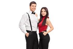 Мужской и женский представлять фотомоделей стоковое фото rf
