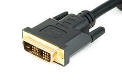 Мужской кабельный соединитель DVI Стоковая Фотография