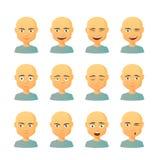 Мужской комплект выражения воплощения Стоковые Фотографии RF