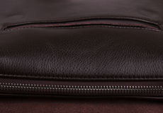 Мужской коричневый крупный план кожаной сумки Стоковая Фотография