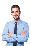 Мужской оператор, красивый испанский человек в официально носке Стоковое Изображение RF