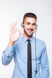 Мужской оператор, красивый испанский человек в официально носке Стоковое Изображение