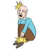 Мужской пожилой гражданин с болью ноги Стоковое фото RF