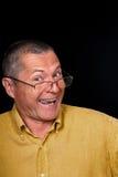 Мужской портрет с гротесковыми эмоциями Стоковая Фотография RF