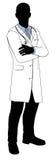 Мужской силуэт доктора Стоковое фото RF
