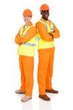 Мужской стоять инженеров стоковое фото rf