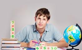 Мужской учитель с книгами Стоковая Фотография RF