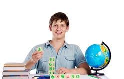 Мужской учитель с книгами Стоковое фото RF