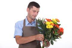 Мужской флорист Стоковая Фотография