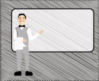 Мужчина геометрического элемента предпосылки плоского космоса экземпляра концепции иллюстрации вектора дела дизайна пустого совре бесплатная иллюстрация