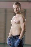 мужчина гимнастики боксера Стоковые Фотографии RF