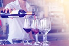 Мужчина дает стекло красного вина стоковое фото