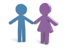 Мужчина & женщина Стоковые Изображения