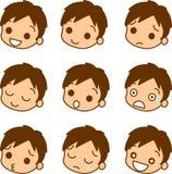 мужчина иконы выражения Стоковая Фотография RF