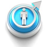 мужчина иконы кнопки Стоковые Фото