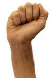 мужчина кулачка стоковое изображение rf