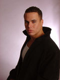 мужчина куртки кожаный Стоковая Фотография