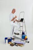 мужчина оформителя стоковое фото rf