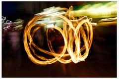 мужчина пожара танцы Стоковое фото RF