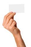 мужчина руки визитной карточки пустой Стоковое Изображение RF