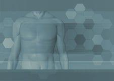 мужчина тела предпосылки Стоковые Фото