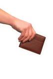 мужчина удерживания руки книги Стоковые Фотографии RF