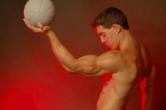 мужчина шарика Стоковая Фотография