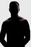 мужчина backlight Стоковые Фото