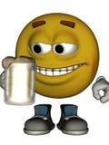 мужчина emoticon одиночный Стоковая Фотография