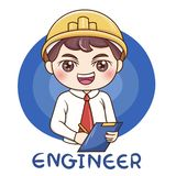 Мужчина Engineer_vector иллюстрация штока